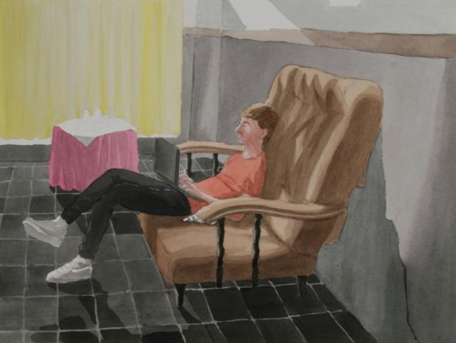 Ariel Cusnir. Esperando al Sicario (de la serie Um Restaurante). 2013