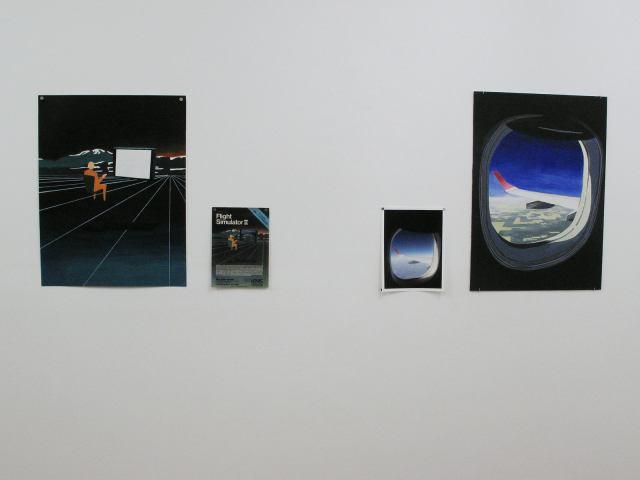 01-Pablo Cavallo-Flight Simulator-hoja de revista, pintura sobre tela y fotografia color, 150x70 cm